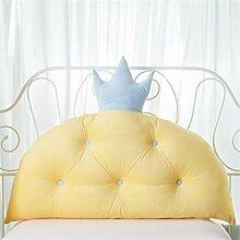 Prinzessin Zimmer Bett Kissen Kissen Bettbett ( Farbe : Gelb , größe : 70*60cm )