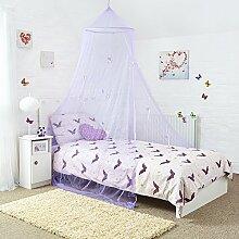 Prinzessinnen-Bettüberdachung – Wunderschöner Schmetterlings- Kinderbettvorhang in lila – Schnell und einfach im Kinderzimmer zu befestigen – Das Perfekte Geschenk für Mädchen, Töchter und Enkeltöchter.