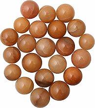 Prisha orange Aventurin Kugel Steinen für Mehrzweck-22Teile