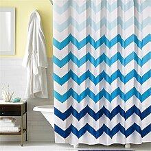 Prismenförmige Wave Duschvorhang Wasserdicht Verdickte Polyester Badezimmer Trennvorhang Vorhänge ( größe : 150*180cm )