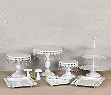 prit 9PC Tortenständer Vintage Kristall