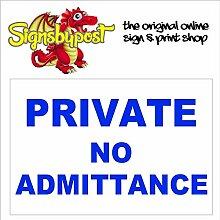 Private No Admittance Wasserdicht,