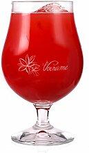 Privatglas Graviertes Cocktailglas mit tropischer Blume und Wunschnamen