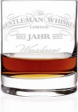 Privatglas Whiskey Glas - Gentleman Whiskey Design