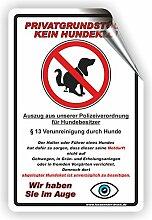 Privatgrundstück - Kein Hundeklo Schild / Kein