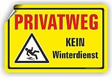 PRIVATWEG - KEIN WINTERDIENST - Winterdienstschilder / WI-004 (60x40cm Aufkleber)