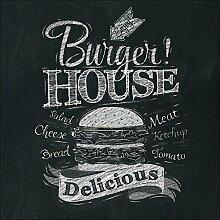 Pro-Art gla1012b Wandbild Glas-Art 'Burger