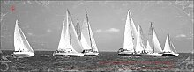 Pro-Art gla1111o Wandbild Glas-Art 'Boat Race