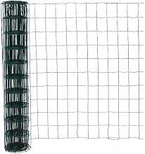 Pro-Gitterzaun 150cm grün 10m, 100 x 75 Masche