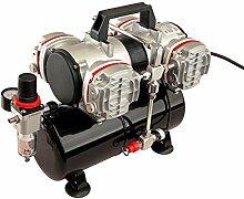 Pro-Lift-Werkzeuge Airbrush Kompressor 4 Zylinder