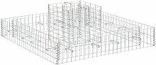 [pro.tec] 2 x Gabionen - Zweistufiger Pflanzkübel