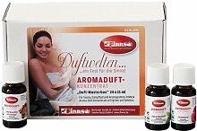 Probe-Box Aroma-Duft Sauna, Dampfbad, Kräuterbad gemischt 24x15 ml | sehr ergiebig