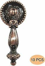Probrico 10 Stück Antike Bronze Türgriffe Möbelgriff Messing antik Möbelknopf Ringgriff PS2172AC