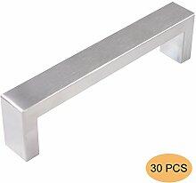 Probrico 10mm * 20mm Küche Kabinett Türgriff Quadrat Bar Möbel Schubladen Knopf Edelstahl Schrank Pull BA 128mm PDDJ30HSS128