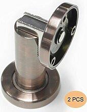 Probrico 2 Stück Magnetischen Türstopper bodentürstopper türhalter Edelstahl Messing antik DSHH101AC