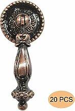 Probrico 20 Stück Antike Bronze Türgriffe Möbelgriff Messing antik Möbelknopf Ringgriff PS2172AC