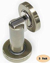 Probrico 5 Stück Magnetischen Türstopper bodentürstopper türhalter Edelstahl Antike Bronze DSHH101AB