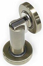Probrico stabiler magnetischer Türstopper DSHH101 aus Metall zur Anbringung an der Wand oder auf dem Boden, 1Stück, Finish:Antique Bronze
