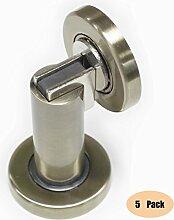 Probrico stabiler magnetischer Türstopper DSHH101 aus Metall zur Anbringung an der Wand oder auf dem Boden, 5 Stück, Finish:Antique Bronze
