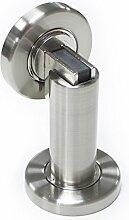 Probrico stabiler magnetischer Türstopper DSHH101 aus Metall zur Anbringung an der Wand oder auf dem Boden, 1Stück, Finish:Satin Nickel