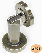 Probrico stabiler magnetischer Türstopper DSHH101 aus Metall zur Anbringung an der Wand oder auf dem Boden, 2Pcs, Finish:Antique Bronze