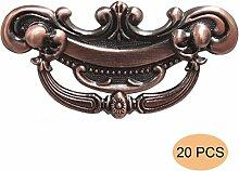probrico Vintage Möbelknopf Möbelgriff Schubladengriff Zinklegierung Antik Kupfer Küche Schrank Griff Pull Lochabstand 64mm 6,3cm pd2102ac