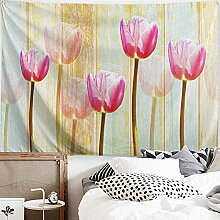Procida Blumen-Wandteppich, bunte Blume,