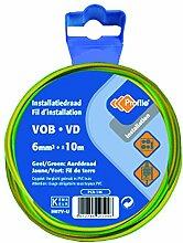 profb 790410364Kabel VOB 6mm 10m gelb/grün