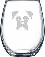 Professionelle Gravur Boxer Hund Glas Hund
