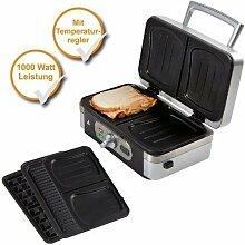 Profi 3in1 Waffeleisen + Sandwich-Maker +