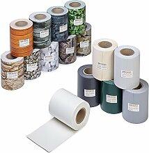Profi Qualität PVC Sichtschutz-Streifen, Zaunblende, Folie, Doppelstabmatten, Zaun, Zaunfolie (35 Meter, Bimsstein-Optik)