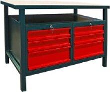 Profi Werkbank / Werktisch mit 6 Schubladen