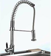 Profi XXL Küchen Armatur mit herausziehbarer Handbrause | Flexibler Spiralhals
