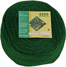 Profigarden 22150 Teichabdecknetz 6 x 3 m,  Maschen 17 x 17 mm, inklusive 10 Netzankern, dunkelgrün