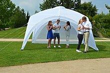 Profiline 1002303 Event Pavillon Strandzelt Partyzelt 400x400x265cm inkl. 2 Moskitonetzen