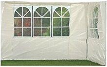 Profiline 2er Set Pavillon Seitenteile für 300 x 300 Pavillon ,weiß mit Fenster, 452207