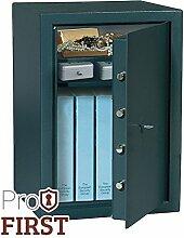 Profirst Festos 660 Möbeltresor mit Doppelbartschloss inkl. 2 Schlüssel, ideal für Schmuck, Dokumente, Bargeld und Münzen, B49 x H66 x T41 cm , 44 KG, inkl. Befestigungsmaterial