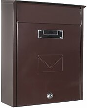 Profirst Mail PM 450 Briefkasten Braun aus verzinktem Stahlblech