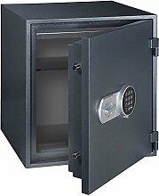 Profirst Versal Fire 55 Feuerschutztresor ECB S FS60P, feuerfester Dokumenschrank, Tresor mit Elektronikschloss, Zertifizierter Möbeltresor inkl. Verankerungsmaterial