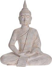 ProGarden Buddha Gartenfigur Sitzend 50x28x62,5 cm