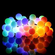 ProGreen RGB Lichterkette, 14.5ft (4.5Meter) 40er LED Kugeln Lichterkette, LED Lichterkette bunt, IP65 Wasserdicht, batteriebetriebene Lichterkette für Innen- und Außenbeleuchtung, geeignet für Party, Weihnachten, Hochzeit, Feier, Zimmerdekoration usw.