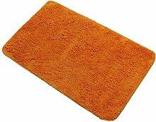 proheim Badematte XXL 70 x 120 cm rutschfester Badvorleger Premium Badteppich 1200 g/m² weich & kuschelig Hochflor Duschvorleger, Farbe:Orange