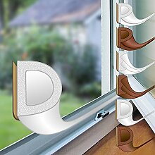 proheim Fenster-Dichtung mit D-Profil in weiß 6 Meter selbstklebende Gummi-Dichtung für Fenster / Türen verschiedene Profile aus EPDM-Gummi
