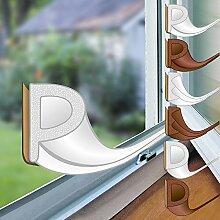 proheim Fenster-Dichtung mit P-Profil in weiß 6 Meter selbstklebende Gummi-Dichtung für Fenster / Türen verschiedene Profile aus EPDM-Gummi