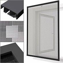 proheim Insektenschutz Fenster nach Maß in Anthrazit Fliegengitter mit Alurahmen für Fenster Insektenschutzfenster Maßanfertigung fertig verpresst & montiert, Breite in mm:1000, Höhe in mm:1200, Gewebeart:Durchsichtgewebe