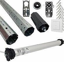 proheim Rolladen-Komplett Set: Rohrmotor PH60M-50-12 mit 300 cm Rolladenwellen-Set und passendem Zubehör