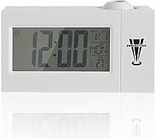 Projektion Uhr Digital Dimmbar Wecker mit Radio