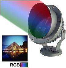 Projektor Außen LED High Power RGB Grün Blau Rot 9W
