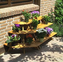 Promadino Blumentreppe mit Eckelement, braun
