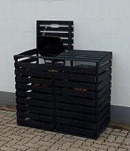 promadino Mülltonnenbox, für 2x240 l aus Holz,
